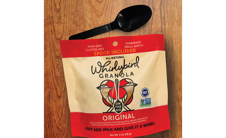 Whirlybird Granola packaging