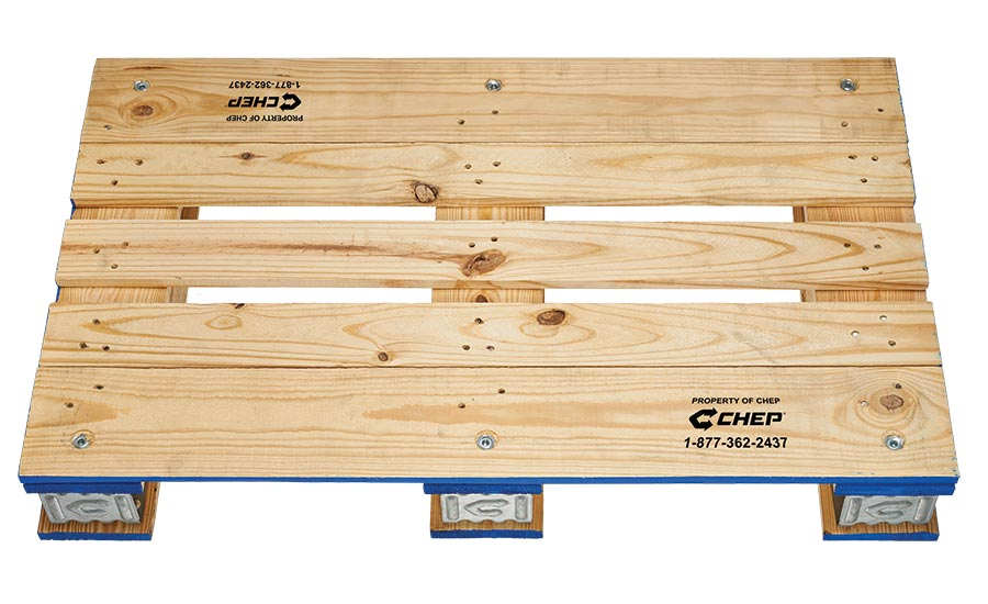 CHEP's smaller pallet easier to move from truck to sales