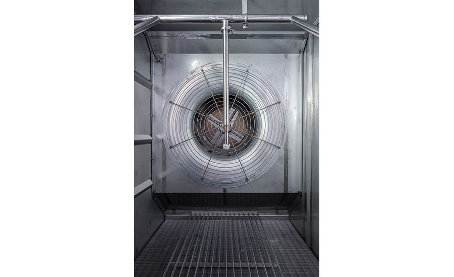 CIP system in freezer