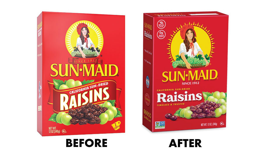 updated Sun-Maid packaging