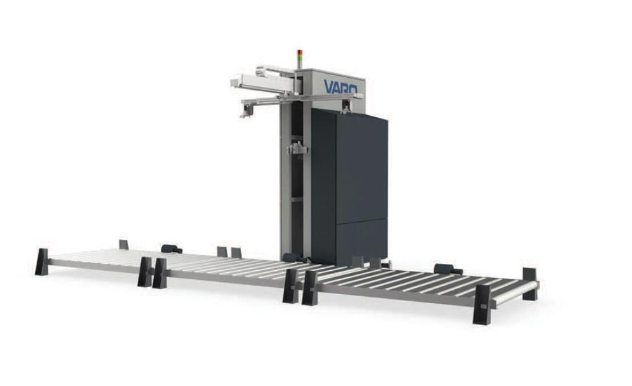 Automatic pallet unwrapper