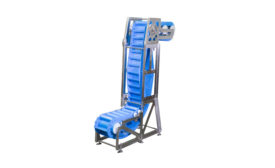 The AquaPruf Vertical Belt Conveyor