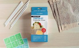 Lunchskins is a new paper line of lunch bags and straws sold at Target stores. Photo courtesy of Lunchskins