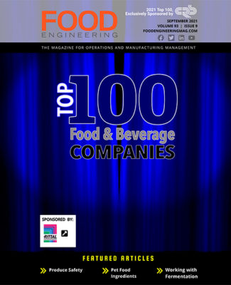 FE 0921 Top 100 Food & Beverage issue cover