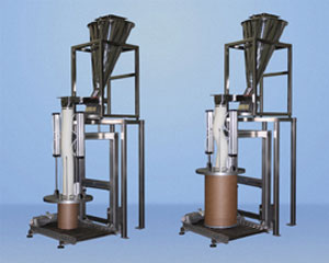 drum filler system material transfer