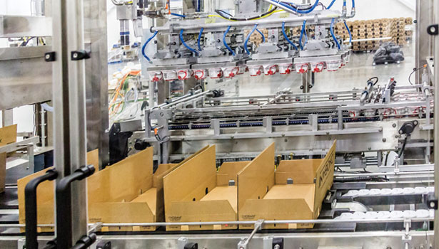 pick and place machine chobani plant