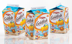 goldfish new packaging paperboard