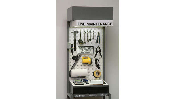 line maintenance station clean