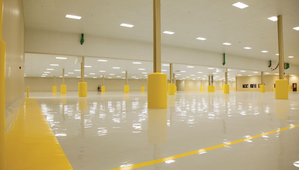 food plant flooring clean new