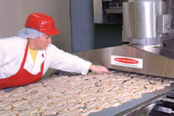 plant worker meat exhaust heat