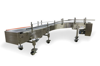 Eaglestone Equipment curved conveyors