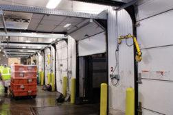 loading docks white doors