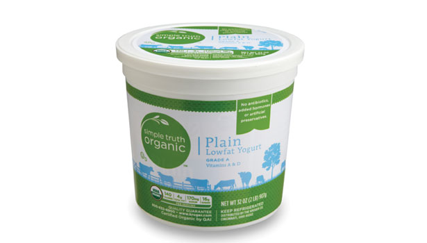 simple truth organic plain low fat yogurt