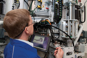 remote monitoring man working manufacturing