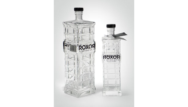 roxor houston gin glass bottle