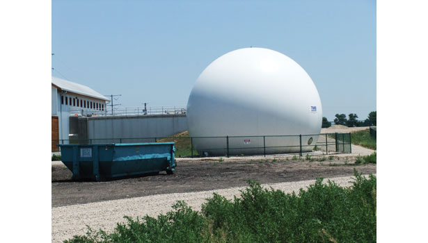 waste water treatment white sphere