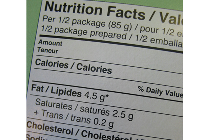 Nutrition facts panel update coming
