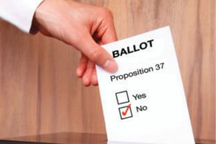 Prop 37 ballot is NO!
