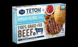 Teton Waters Ranch mushroom-beef burgers