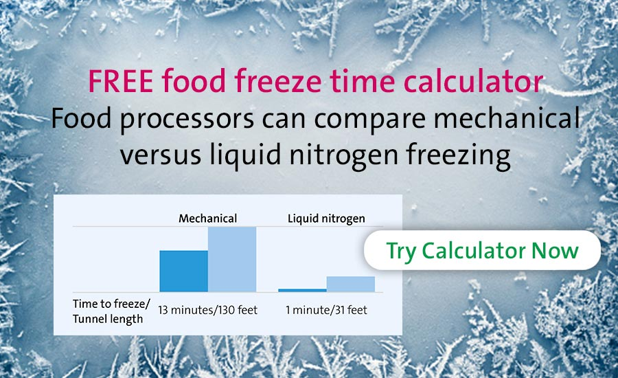 Food freeze time calculator