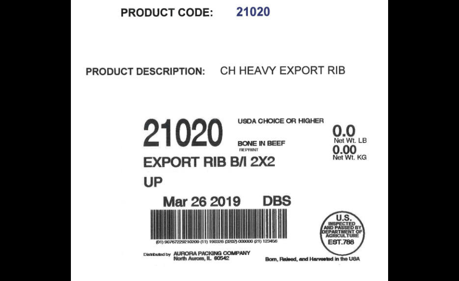Aurora Packing recalls beef after E  coli traceback from