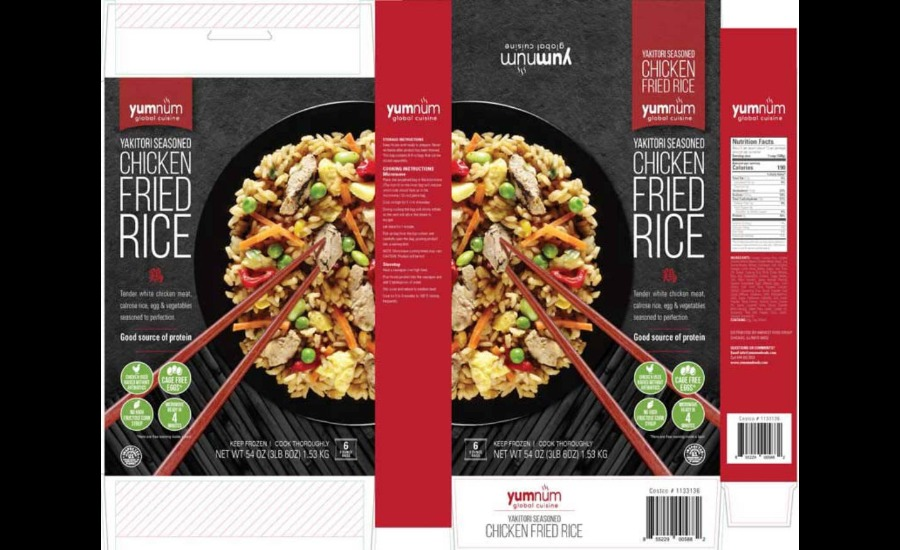 Harvest Food Group Recalls Misbranded Chicken Fried Rice 2019 01