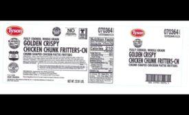 Tyson Foods chicken fritter recall