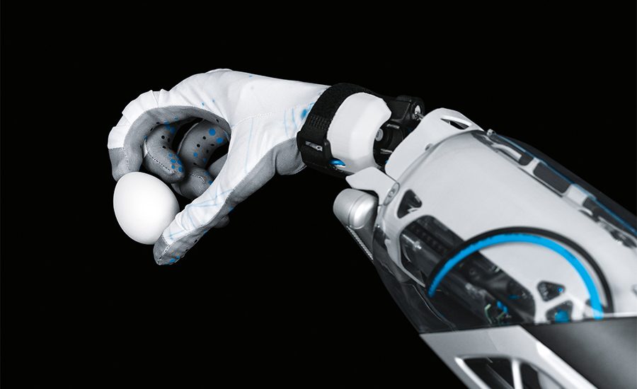 Festo's Bionic Mobile Assistant with a human-like hand gripper