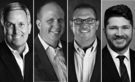 Flexco CEO Richard A. White; Thomas S. Wujek, president/COO; Chip Winiarski, chief marketing officer; and newly hired Keith Staninger, who will serve as chief digital officer.
