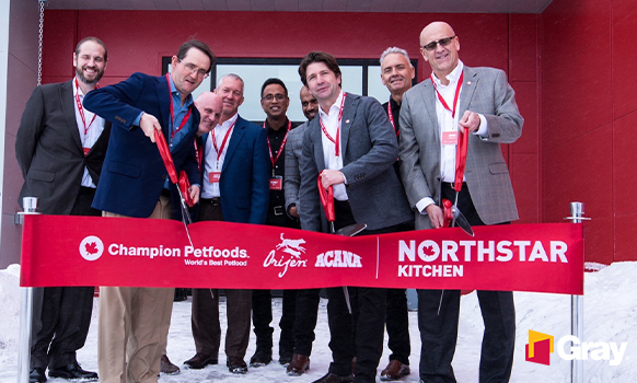 Gray and Champion Petfoods Celebrate Ribbon Cutting on New NorthStar Specialty Pet Food Operation
