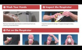 OSHA poster about how to wear a respirator