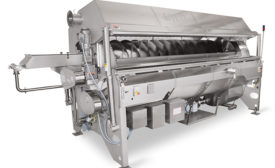 Tribe 9 Foods' Clean-Flow pasta cooker handles 2,400 pounds of cooked gluten-free pasta per hour