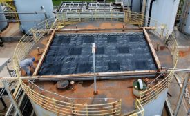 Carbon-activated geomembrane filtration systems