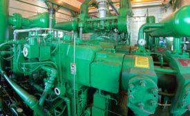 interior of a compressor station