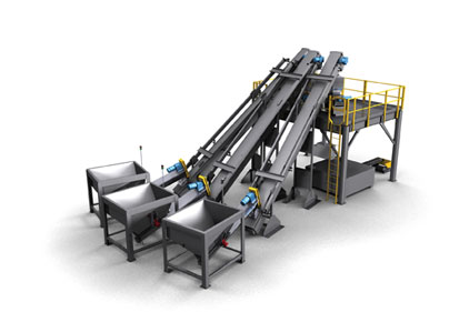 Automated material conveying system