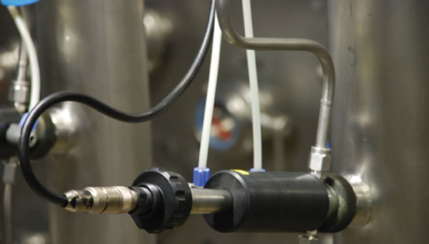 Optical sensing detects dissolved oxygen levels in beer