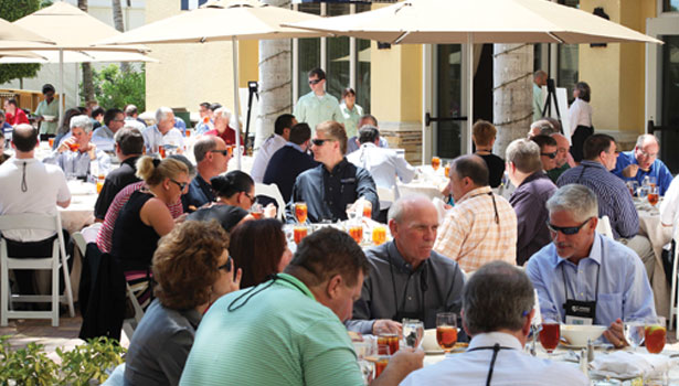 FA&M 2013 attendees enjoy an outdoor lunch