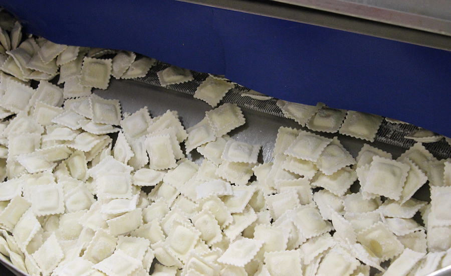 """Rolling Wave"" Freezer Speeds IQF Pasta Production"